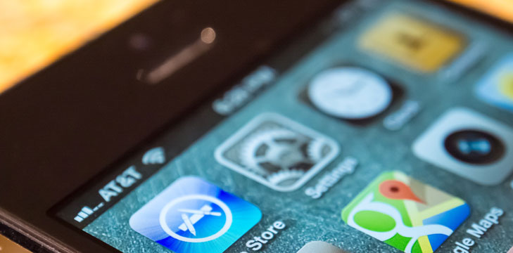 מסך האפליקציות של אייפון